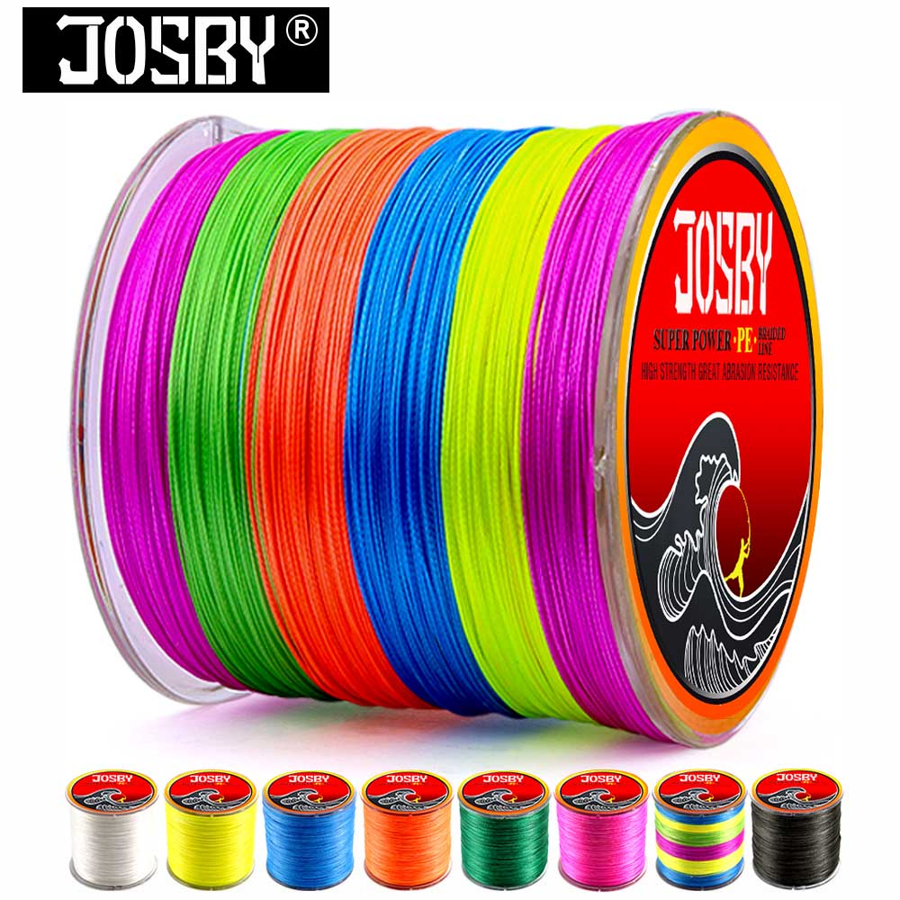 JOSBY 500M 8 Strands PE Braided Fishing line Japan Multifilament Super Power Fishing Lines Multi-filament Fish Line Rope Cord