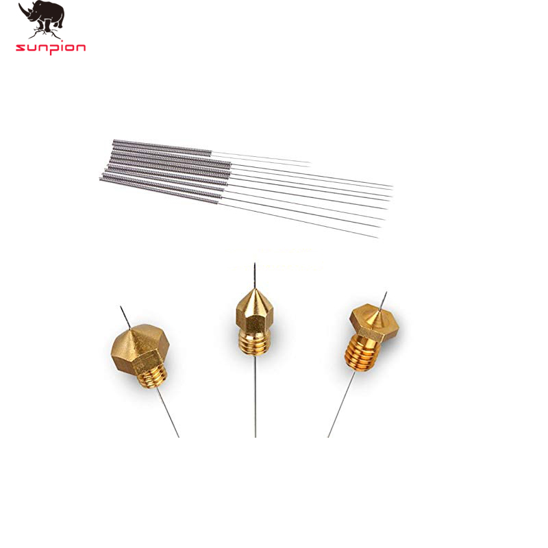 10Pcs Free Shipping 3D Printer Nozzle Cleaning Needles Kit Stainless Steel Cleaning Tool 3D Printer Parts