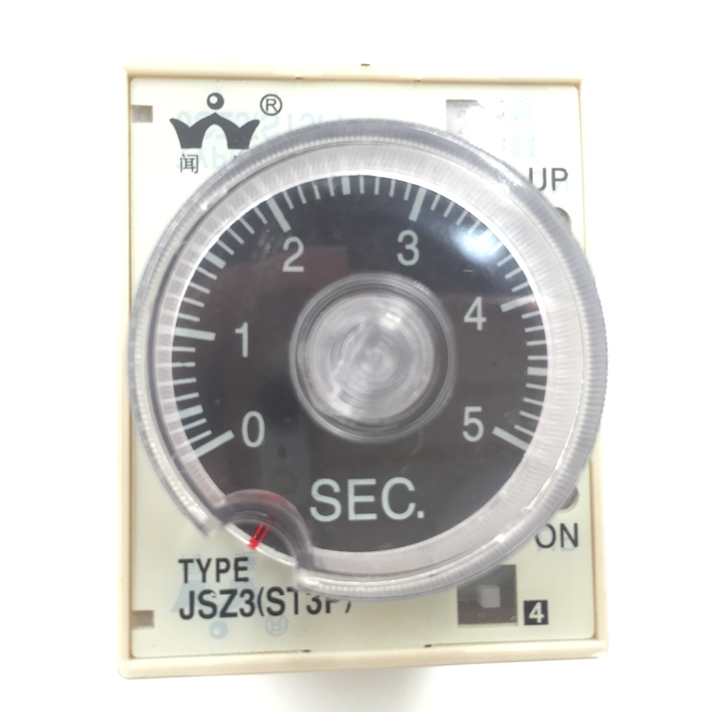 ST3P A-C JSZ3 power on time delay relay 5S/50S/5Min/30Min Time relay hhs6a correct time countdown intelligence number show time relay bring power failure memory ac220v