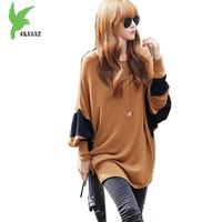 Heat buy Large size Women's T-shirt Spring and Autumn Medium length Loose Tees Bat sleeve Female Casual Tops T-shirt OKXGNZ 1533