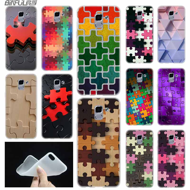 Fitted Cases Cellphones & Telecommunications Case Soft Cover Tpu Coque For Samsung Galaxy J6 J8 J3 J5 J7 J4 Plus 2018 2016 2017 Eu Prime Pro Ace J610 Puzzle Art To Be Highly Praised And Appreciated By The Consuming Public