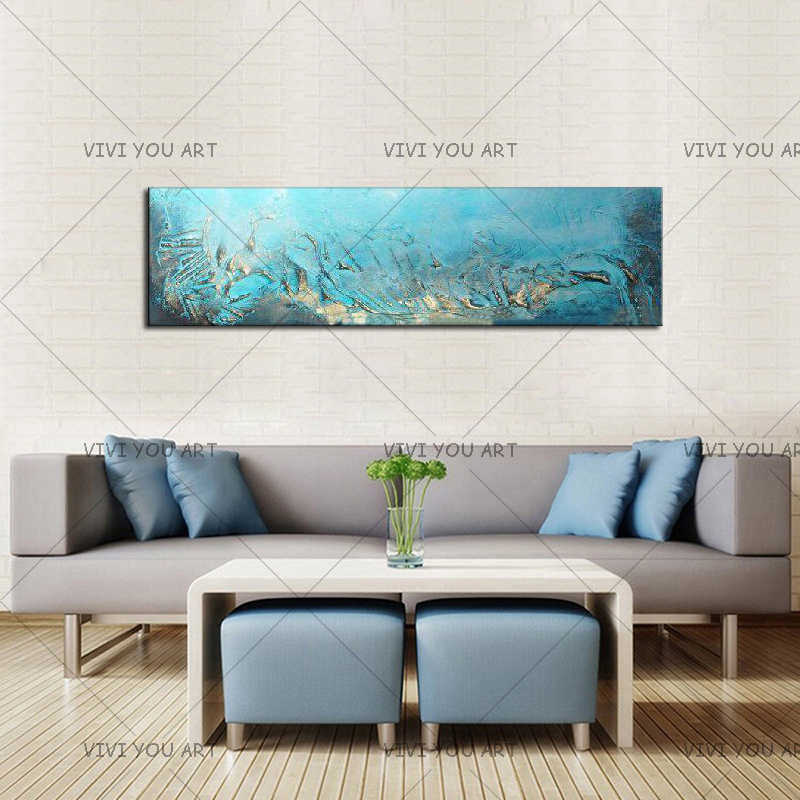 Best Newest Hand Painted Modern Large Abstract Art Home Decor Hang Picture Handmade Oil Painting On Canvas Wall Artwork Gift