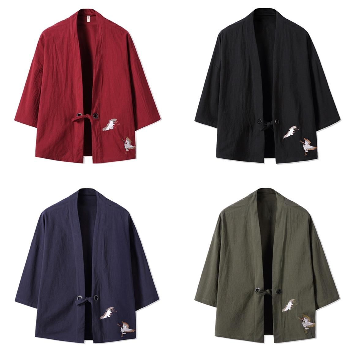 Mens high quality kimono japanese clothes streetwear ...