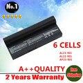 Atacado New bateria do portátil para Asus Eee PC Eeepc 901 AL24-1000 AL23-901 901 904HD 1000 1000 H 1000HD 6 células livre grátis