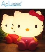 Cute Kitty Cat Cartoon Night Light Baby Room Kids Bed Lamp Sleeping Night Lamp Decoration Eyeshield Table Lamp