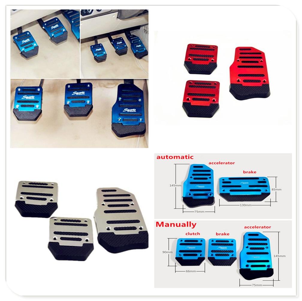 Car Manual automatic Transmission Non-Slip metal Pedal Cover for Kia Forte Ceed Stonic Stinger Rio Picanto Niro Soulster No3(China)
