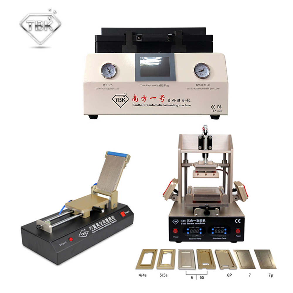 лучшая цена TBK-808 LCD OCA Vacuum Laminating Machine+518 5in1 LCD Separator/Frame Laminating Machine+761 Vacuum Film Laminating Machine