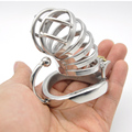 Happygo, Ergonomic Design Stainless Steel Male Chastity Device,Cock Cage,Virginity Lock,Penis Lock,Cock Ring,Chastity Belt C274