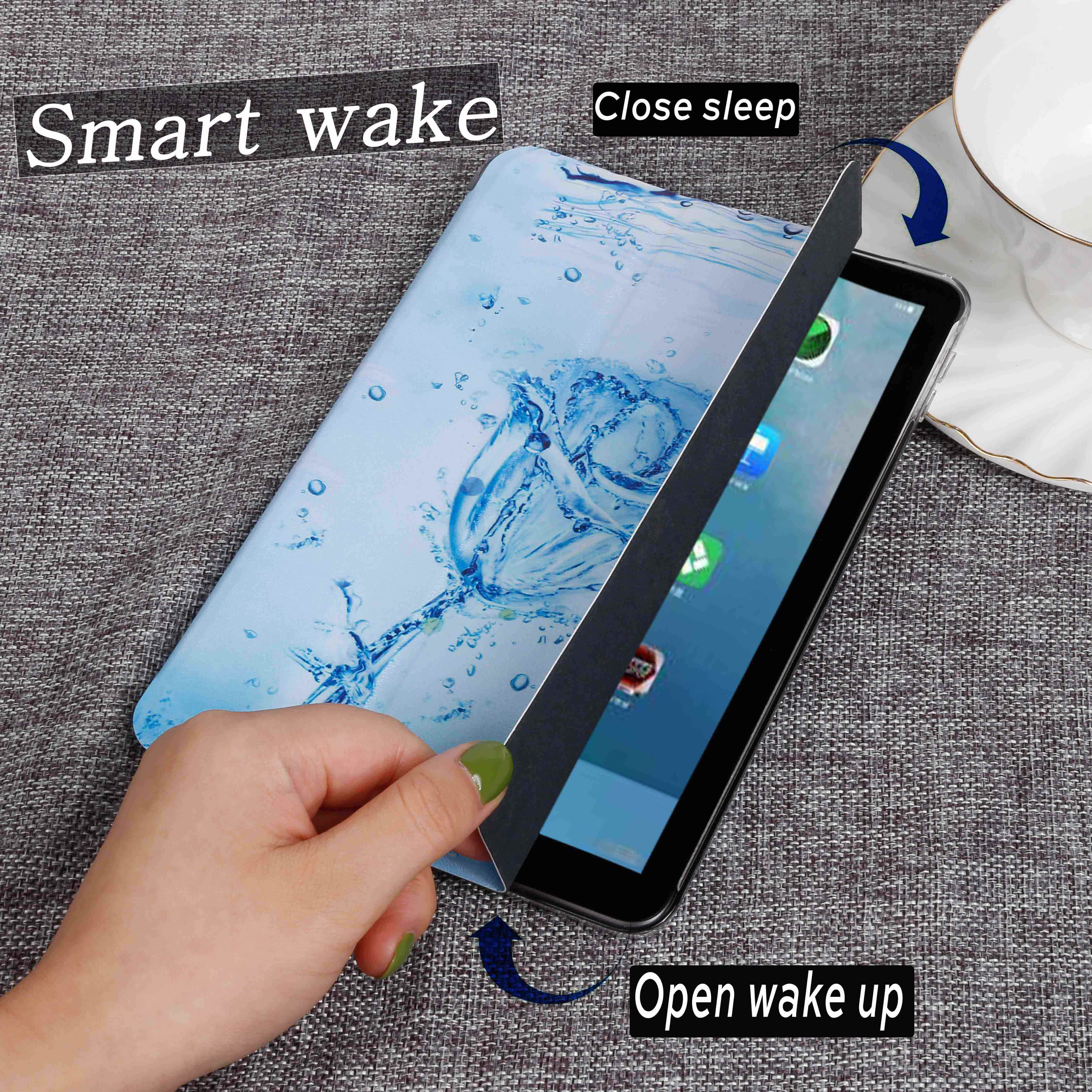 Qijun Tablet Case untuk Samsung Galaxy Tab 7.0 T280 T285 SM-T280 SM-T285 2016 Case PU Kulit Smart Dudukan Dicat cover