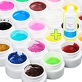 48 Colors Transparent Solid Pure Glittery UV GEL Builder Nail ART Cleanser Plus top base  uv gel nail Set Tips