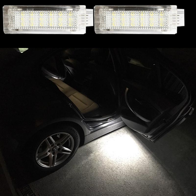 2x LED Car courtesy step door light without logo For E84 F01N F02N F03N F20 F30 F31 F31 F34 auto accessory for BMW LED bulb 3528smd car led welcome under door courtesy light lamp bulb auto courtesy light source for volvo c30 v70 xc70 xc90 s60 s80 v60