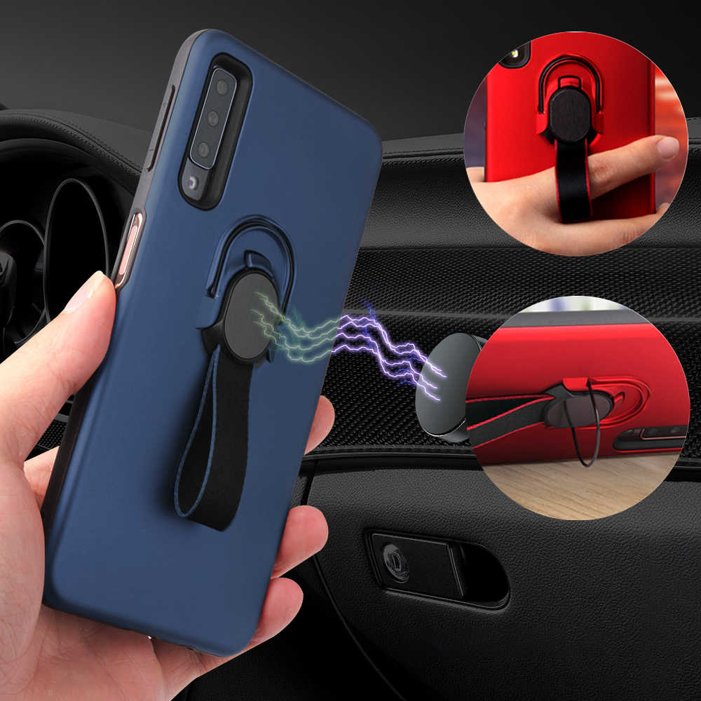 Case Voor iphone 7 Plus Case Magnetische Cover Voor iphone XS Max XR X 6 6 s 8 10 Plus case Luxe Coque Houder Stand Ring Funda Etui