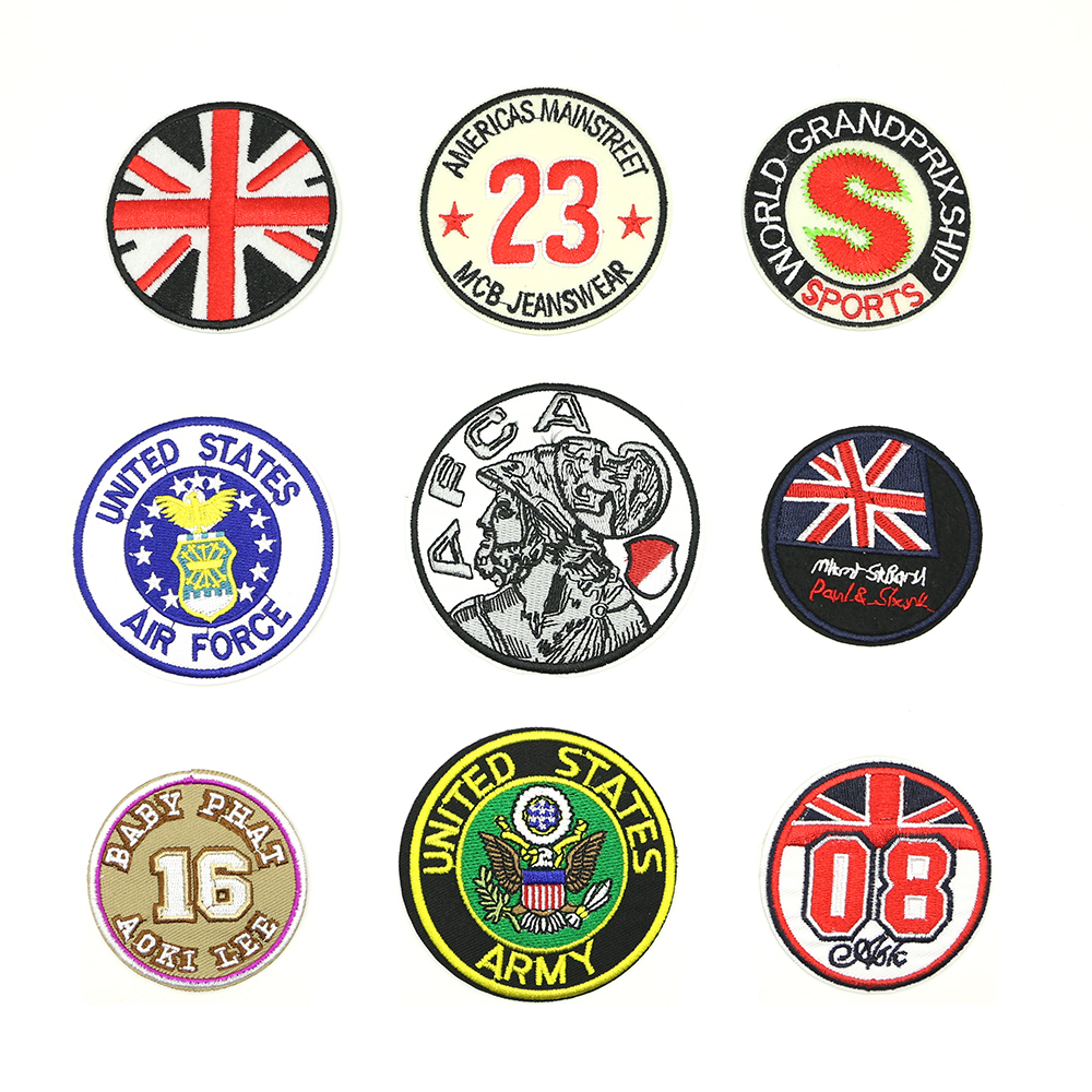 2018 New 1 pcs Iron-on Exquisite handmade DIY parches para la ropa Circular embroidery patch D-029