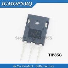 10PCS = (5PSC 35C + 5PCS 36C) TIP35C TIP35 OM 247 TIP36C TO 3P TIP36 Nieuwe originele gratis verzending