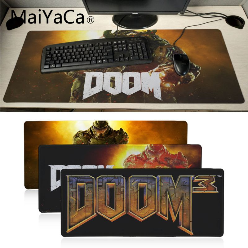 MaiYaCa Cool New Doom HZ Stalker  Rubber Pad To Mouse Game Large Gaming Mouse Pad Anti-slip Perfect Locking PC Computer Desk Mat