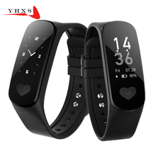 YHXS Smart ECG + PPG Health Smartband Heart Rate Blood Pressure Monitor Smart Band Fitness Activity Tracker Wristband Bracelet