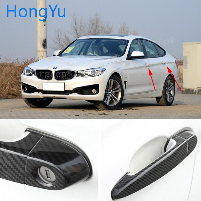 Pour BMW série 3GT 3GT F34 335i 320i 328i 325d 340i 330i 2013-2019 poignée de porte automatique en Fiber de carbone