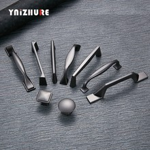 YNIZHURE Pearl Gray Cabinet Handles Drawer Knobs Kitchen Cupboard Door Pulls Fashion Furniture Alloy Handle Cabinet Hardware(China)