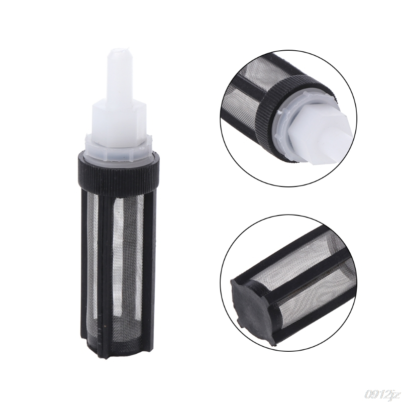 Plastic Straight Head Black Filter Water Pump Strainer For 8mm Tube Garden Tool #C93U# Dropship