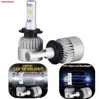 1Pair S2 H4 H7 CSP Chips Car Headlight Fog DRL LED Auto Led Bulb H11 9006
