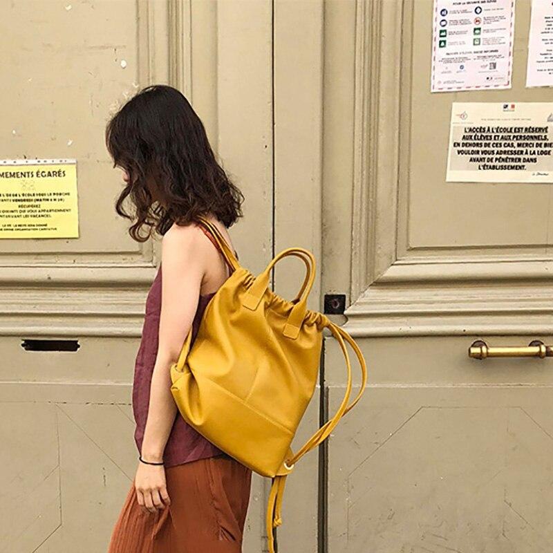 Simple Style Pu Soft Leather Handbag Luxury Women Bag Female Shoulder Bag Brand Designer Drawstring Bucket Bags Bolso 2019Simple Style Pu Soft Leather Handbag Luxury Women Bag Female Shoulder Bag Brand Designer Drawstring Bucket Bags Bolso 2019
