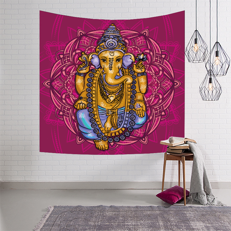Indian Mandala Tapestry Wall Hanging Rectangle Mandala Wall Hanging Tapestry Bohemina Wall Tapestry Mandalas Buddha Tapestry