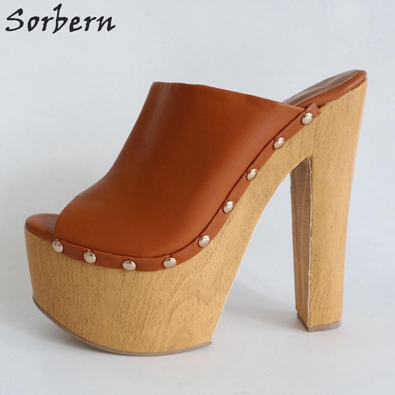 Diapositives D'été Dames Pantoufles Air Sorbern Sandales En Chaussures 34 Marque Couleurs Épais Personnalisées Ouvert Plein Femmes Toe 46 Taille Marron 2019 Talon n80OwkP