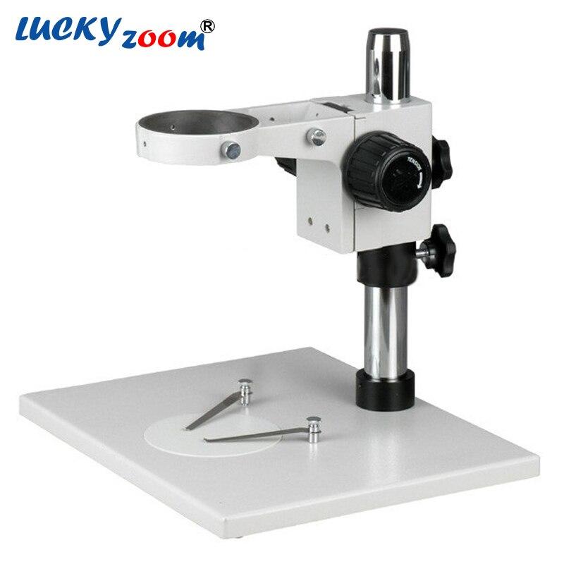 Luckyzoom Super Grande Stereo Zoom Microscopio Della Fase di Supporto Da Tavolo di Messa A Fuoco Rack Per Binocolo Trinoculare Microscopio Trasporto Libero