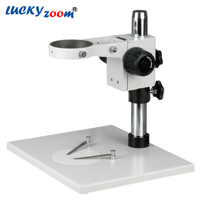 Luckyzoom Super Large Stereo Zoom Microscope Stage Table Stand Focusing Rack For Binocular Trinocular Microscopio Free Shipping