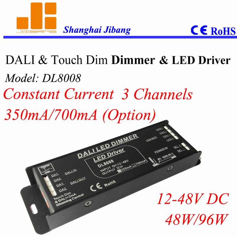 Free Shipping DALI RGB controller, PWM DALI driver, Constant Current DALI dimmers, 3 Channels/12V 48V/Output Opt. DL8008