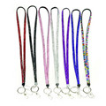 5 Colors Rhinestone Crystal Bling Badge ID Key Holder Lanyard For Cell Phone Camera Hanging Rope 43CM