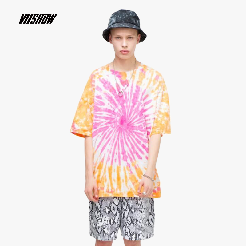 VIISHOW 2019 summer new short-sleeved T-shirt men trend men's printed short-sleeved t-shirt five-sleeve shirt TD1356192