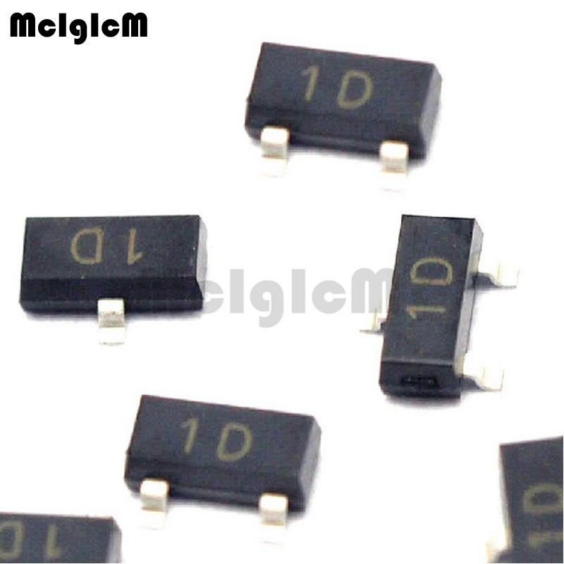 MCIGICM 100pcs MMBTA42 SOT-23 1D MMBTA42LT1G High Voltage TransistorsMCIGICM 100pcs MMBTA42 SOT-23 1D MMBTA42LT1G High Voltage Transistors