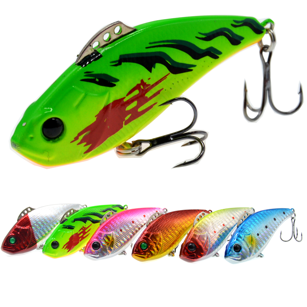 19g 72mm Peche Jig Head Japan Hard Body Lure Vibe Vibrating Bass Fishing Lures Pesca-in Fishing Lures from Sports & Entertainment