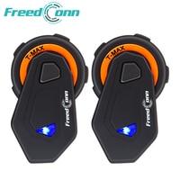 2 Pcs Freedconn T Max 1500m Motorcycle Helmet Bluetooth Intercom Headset 6 Riders Group Talking FM