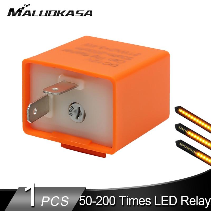 2Pcs 12V 2 Pin Motorcycle Blinker LED Flasher Relay Turn Signal Indicator