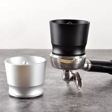 Coffee Dosing Ring Aluminum Alloy Intelligent Powder Feeder Grinder Brewing Bowl Cup Barista Tool for EK43 58mm Coffee Tamper
