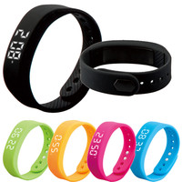 Unisex 3D LED Smart Bracelet Sport Tracking Calorie Alarm Sleeping Monitoring Pedometer Thermometer Bracelet Wrist Watch