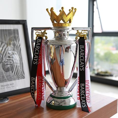 Premier League Trophy FA Champion Cup 45 cm  Replica Size new style blue ribbon 45 cm english premiership trophy cup barcley premiership cup cup soccer football replica trophy cup