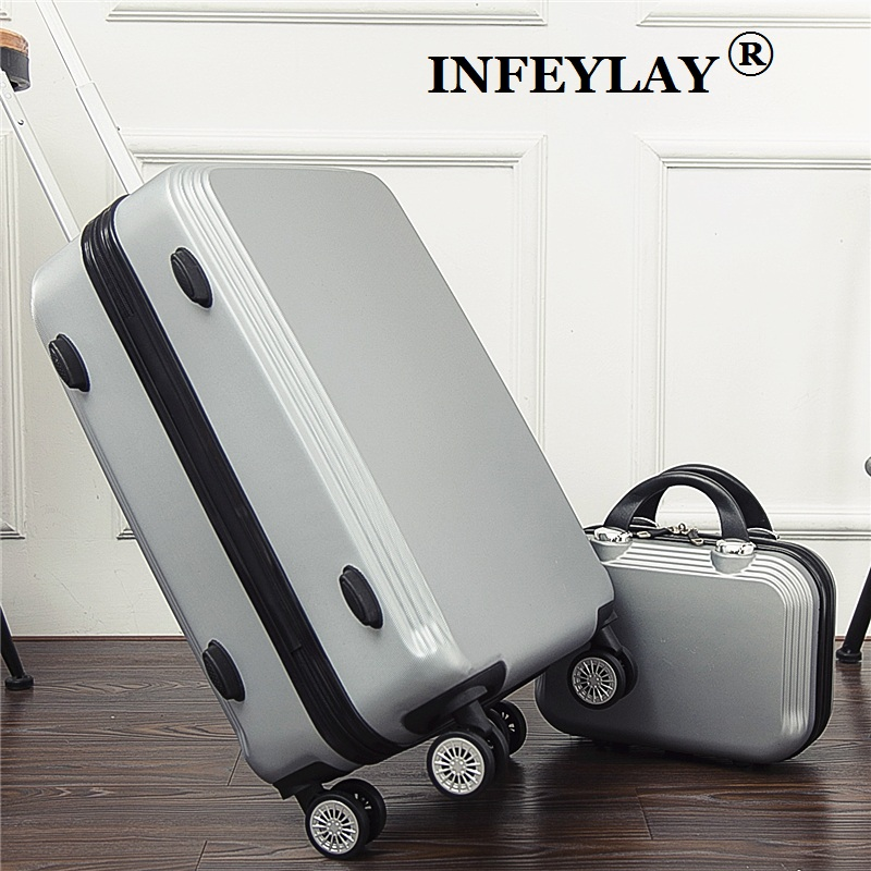 2PCS/set,20/24 inch students women trolley case Cosmetic bag Travel spinner luggage girl rolling suitcase business Boarding box 20 24 inch abs girl students fashion spinner trolley case child travel luggage men rolling suitcase women business boarding box