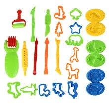 Детские игрушки пластиковый игровой набор инструментов для теста для лепки набор игрушек Обучающие красочные пластиковые ine моделирование формы комплект глины слизи игрушки для детей