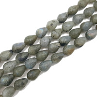 LiiJi Unique Natural Stone Norway Rainbow Labradorite Tear Drop shape Faceted bead about 10x14mm DIY Jewelry Making 39cm