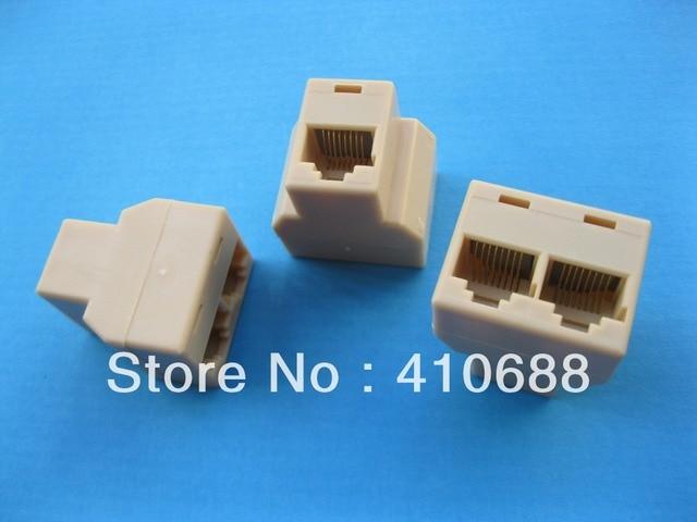24 Pcs CAT5 3 Ports RJ45 Splitter Lan Ethernet Network Coupler ...