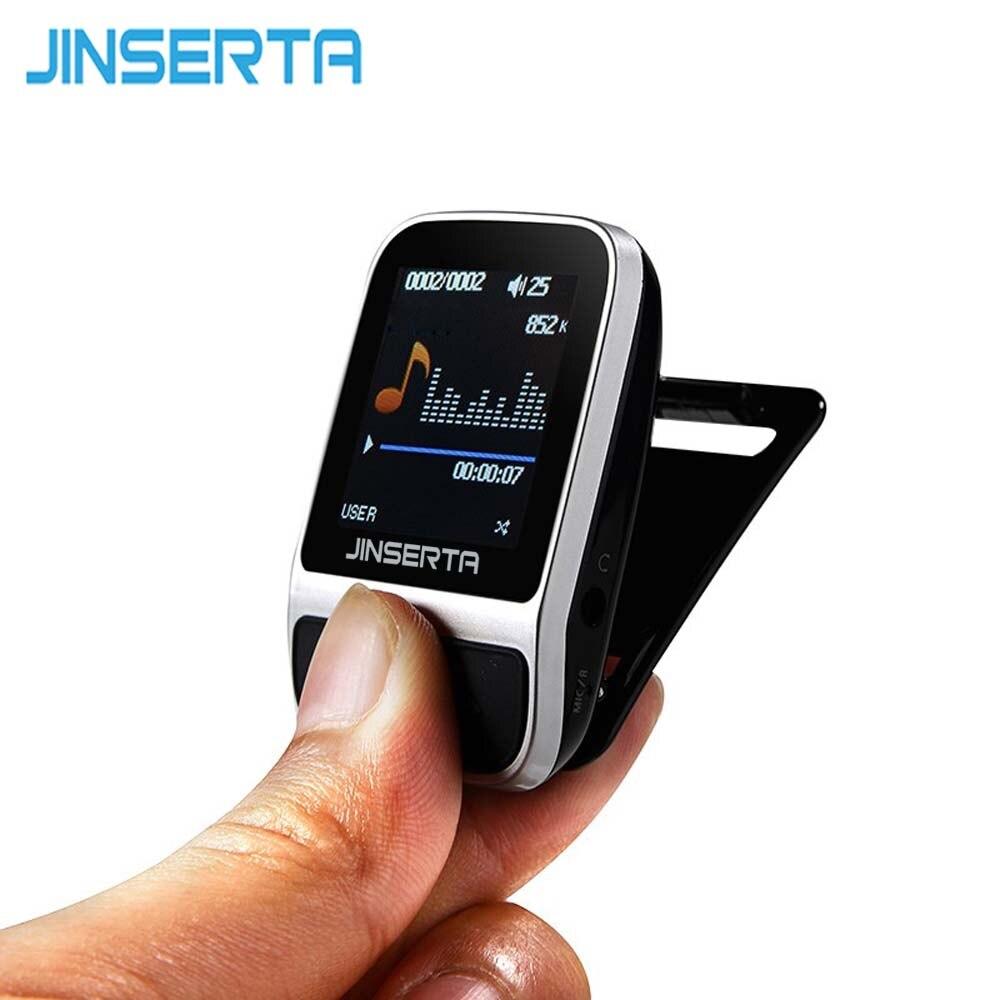 JINSERTA Original Sport 4GB MP3 Player Smart Bracelet Watch Pedometer HIFI lossless Recorder FM Radio Portable Music Player стоимость