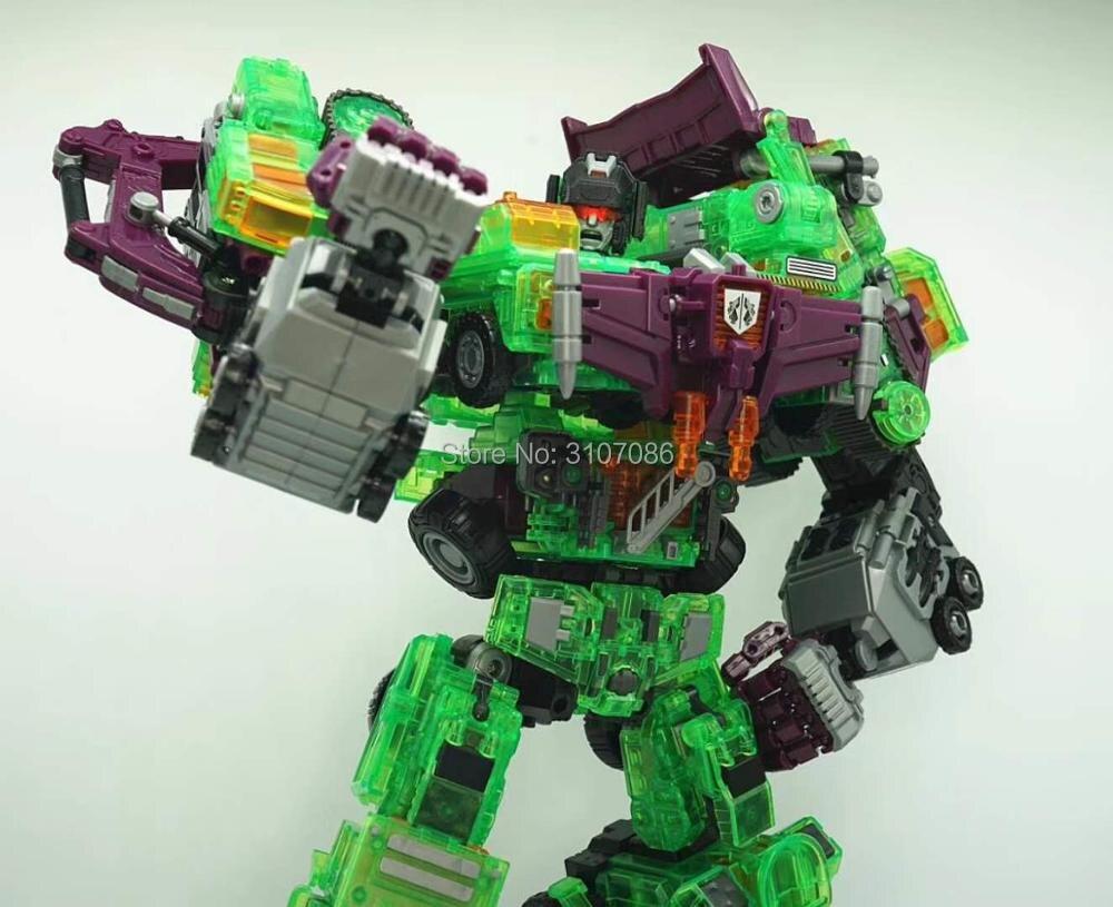 NBK Devastator 6IN1 Transparante Sets Bulldozer Scrapper Zwaartekracht Haak Transformatie Figuur Speelgoed-in Actie- & Speelgoedfiguren van Speelgoed & Hobbies op  Groep 2