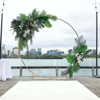 3pcs Flower Balloon Metal Rack circle Wedding Arch Background Wrought Iron Shelf Decorative Party Backdrops metal DIY props