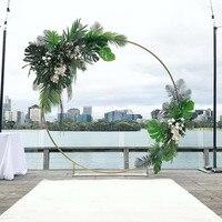 3pcs Flower Balloon Metal Rack circle Wedding Arch Background Wrought Iron Shelf Decorative Party Backdrops metal DIY props