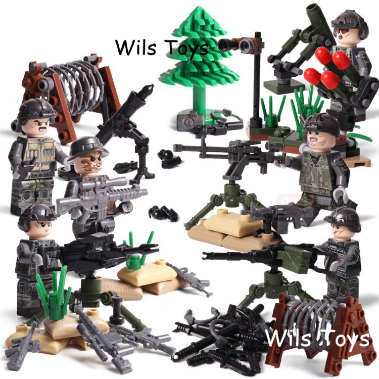 6pcs SAS MILITARY British Army Special Forces Soldiers WW2 CS SWAT Weapons Building Blocks Figures Educational Toys Gifts Boys bryan perrett british military history for dummies