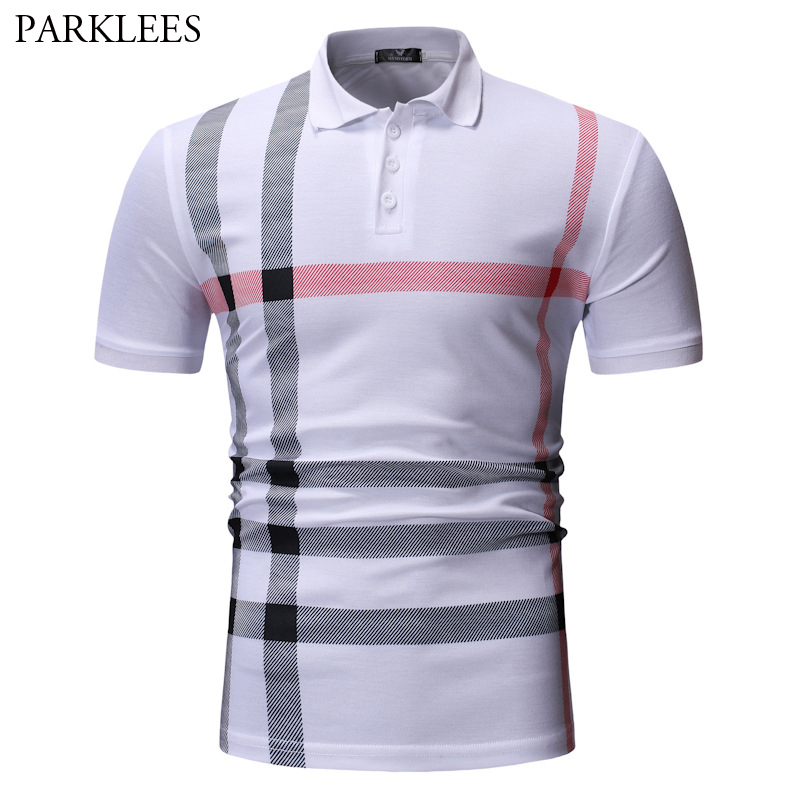 Brand Striped   Polo   Shirts For Men 2019 Casual Short Sleeve Male White Dress   Polos   Plus Size Streetwear Fit   Polo   Homme Tops XXXL