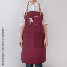 Creative sleeveless apron fashion Korean version of the adult kitchen smock cafe supermarket wear overalls